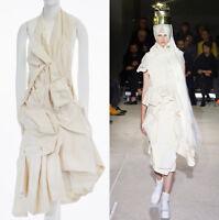 runway COMME DES GARCONS SS13 cream raw cotton bundled halter backless dress