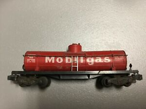 AMERICAN FLYER S SCALE RARE VINTAGE  MOBILGAS TANKER CAR WEOX 958