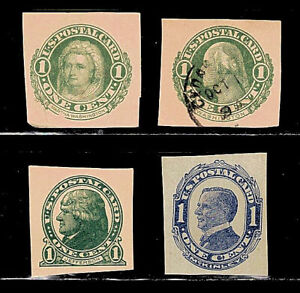 USA Early Square Cut 1¢  Post Cards   <A546>
