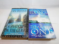 2 x Fantasy novels Shadow On the Glass Ian Irvine Treasured One David Eddings D3