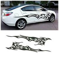 1 Pair Car Flame Fire Totem Stickers Auto Graphics Decals Fire Elemental Sticker