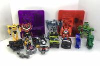 Lot of Transformers Toys Hasbro & Bandai Construct Bots Megatron & Optimus Prime