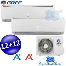 3S CLIMATISEUR BI-SPLIT GREE LOMO 3,2 + 3,2 KW 30+30m² INVERTER FROID CHAUD NEUF