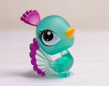 *Littlest Pet Shop* LPS Clear Collection Teal Blue Peacock Bird #3189 Very Rare