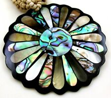 PAUA ABALONE SHELL & MOTHER OF PEARL BEADS necklace ; GA306