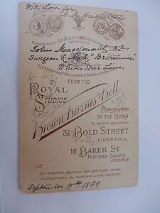 WHITE STAR LINE DOCTOR SURGEON RMS BRITANNIC  (WHEN CELTIC COLLISION ?) 1889