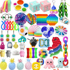 1-66Pack Fidget Sensory Toys Set Stress Relief Anxiety Toy Kids Autism Relief US