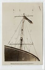 "THE ROYAL STANDARD ON MAINMAST, HMS ""SUFFOLK"": Naval shipping postcard (C15095)"
