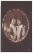 Foto Cartolina REINWALD GRETE & HANNI edwardian little girls  photo postcard AK