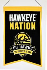 Iowa Hawkeyes Wool Nation Banner [NEW] NCAA Sign Wall Man Cave