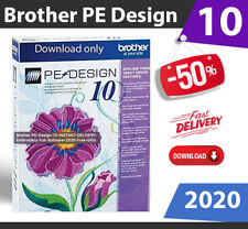 Brother PE Design 10 INSTANT DELIVERY Embroidery Full Software 2020 + Free Gifts