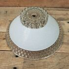 Art Deco Ceiling Light Shade Glass Hanging Fixture Frosted White Candle Wick