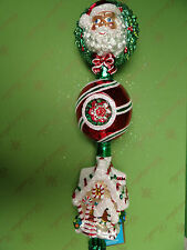 Christopher Radko Santa Sweet Final Tree Top Glass Ornament
