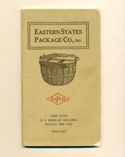 1917 EASTERN STATE PACKAGE CO Buffalo NY ANTIQUE FRUIT & PRODUCE BASKET CATALOG