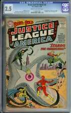 BRAVE AND THE BOLD #28 CGC 2.5 CR/OW PAGES // 1ST APP OF JUSTICE LEAGUE 1960