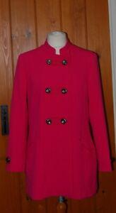 M&S, Per Una, Ladies, Fuchsia, Military Style, Casual, Coat, size 14