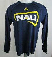 NAU Lumberjacks NCAA Mens L/S Adidas Navy T-shirt