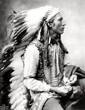METAL FRIDGE MAGNET John Comes Again Lakota Sioux 1899 Native American Indian