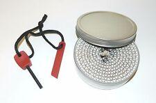 Outdoor Survival Fire Buddy Burner + Compact Ferro Rod Magnesium Fire Striker