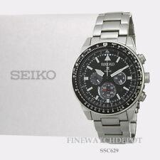 Authentic Seiko Men's Prospex Solar Chronograph Stainless Steel Watch SSC629