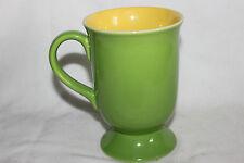 Denby Style  Mug Green Outside Yellow Inside