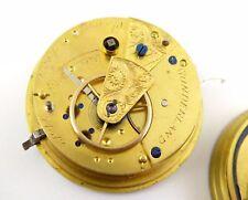 1800s Antique Mechanical Fusee Pocket Watch Movement Aaron Jackson Sunderland