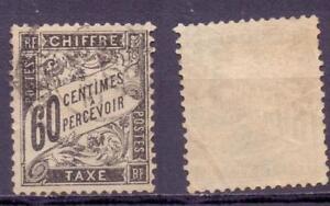 Frankreich Porto 20, 60 Centimes gestempelt #e216