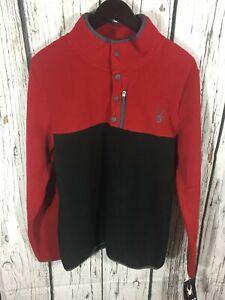 Men's fleece Pullover Sweater Spyder Medium red black