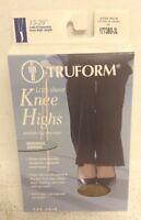 NEW TRUFORM (1773) Lites Sheer Knee Highs, 15-20mmHg, Beige, 3XL