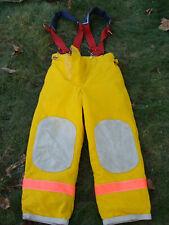 Veridian Firefighters Pants Trouser Turnout Gear Fireman Size S w/ Suspenders