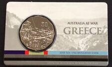 2015 RAM 50 cent UNC Coin - Australia at War - Greece