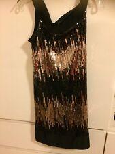 Scarlett Night Women's Size 10 Gold & Black Sequence Dress