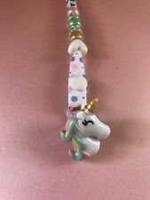 PERSONALISED UNICORN DUMMY / SOOTHER CLIP ~ Baby's Name Added ~ NEW ~
