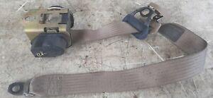 95-01 Chevy Blazer Passenger Right Rear Tan Seat Belt Retractor Needs Cleaning