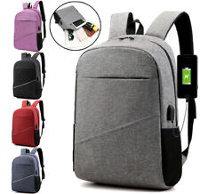 Anti theft USB Charging Backpack Travel Shoulder Bag Laptop Student Backpacks