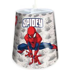 SPIDERMAN TAPERED CEILING LIGHT SHADE KIDS BEDROOM LIGHTING