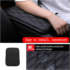 1Pcs Car Armrest Pad Cover Center Console Dust-proof Black Leather Cushion Mat