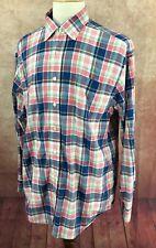 Vineyard Vines Murray Button Down Long Sleeve Blue Madras Plaid Shirt Men's L