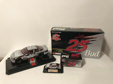 1999 1/24 & 1/64 #25 Wally Dallenbach Bud King of Beers Nascar Chrome Diecast