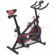 vidaXL Bicicleta de Spinning con Sensores de Pulso Negra y Roja Ejercicio