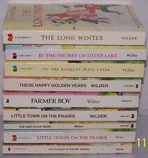 9 LITTLE HOUSE ON THE PRAIRIE BOOKS - LAURA INGALLS WILDER
