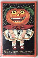 Halloween Greeting Card Set Jolly Nostalgic Reproduction 8 Cards & Envelopes