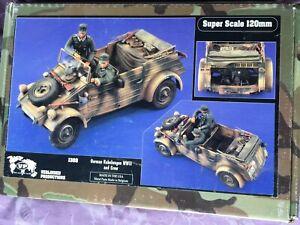 Very rare! Verlinden resin Kubelwagen kit 120mm scale with crew figures