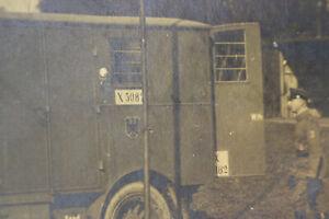 altes Foto General von Carlowitz Besichtigung  Funkwagens 1. WK Ostfront 1916