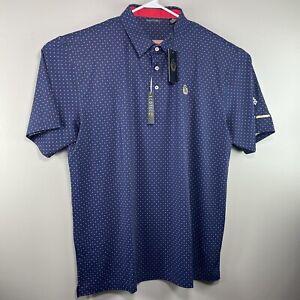 Men's Sage Valley SV Golf Club Short Sleeve Polo Shirt Blue Size 2XL #A1