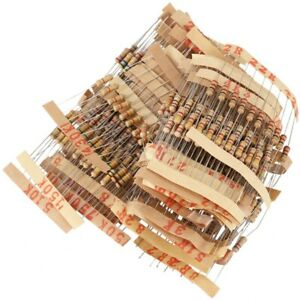 500pcs 50 Values 1/2W 0.5W 5% Carbon Film Resistors Assorted Kit Set