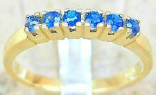 ☺☻Safirringe in aus 14kt 585 Gold Ring Saphir mit 0,12 ct Safir Schmuck Sapphire