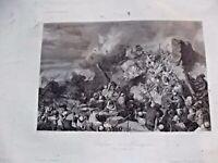 Ancienne Gravure Défense de Mazagran 1840 par Danois galerie histoire Versailles