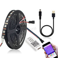 1/2M WS2812B 5050 bluetooth USB APP Control RGB Addressable LED Strip