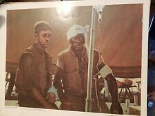 "Vietnam Era Usmc Marine Corps Combat Art Collection ""Walking Wounded"" 20 × 16"